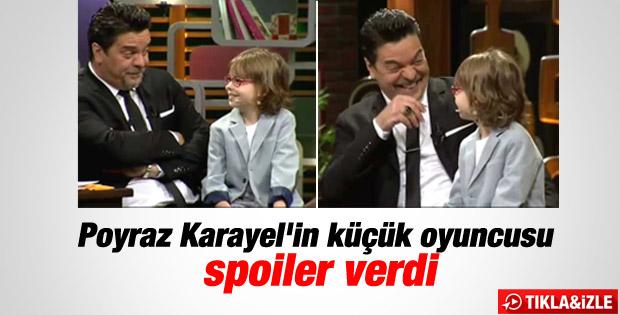 Poyraz Karayel'in küçük oyuncusundan dizi itirafı