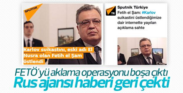Sputnik, suikastı El Nusra üstlendi haberini tekzip etti
