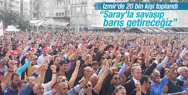 İzmir'de bombalı saldırı protesto edildi
