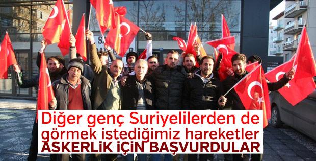 Suriyeliler Türk askeri olmak için başvuru yaptı