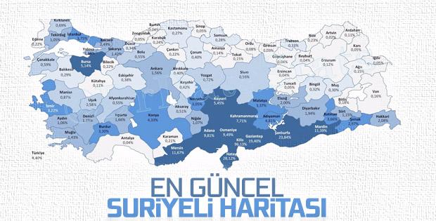 Türkiye'de yaşayan Suriyeliler istatistiği