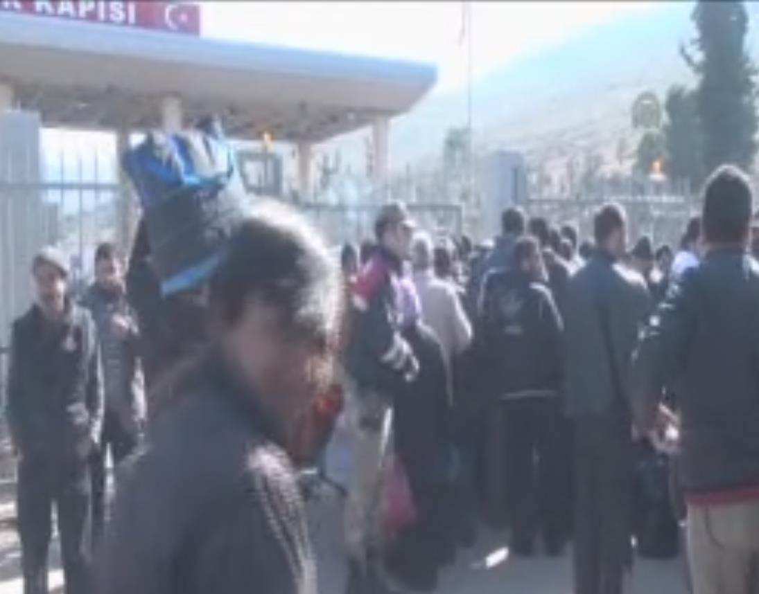 Cilvegözü Sınır Kapısı'nda taksici eylemi - izle