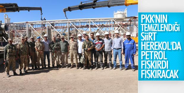 Herekol'da petrol çalışması