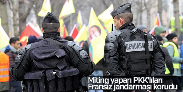 Strazburg'da PKK gösterisi