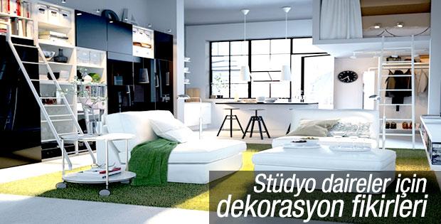 Stüdyo daireler için dekorasyon fikirleri