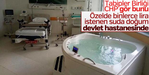 Devlet hastanelerindeki ilk suda doğum ünitesi açılıyor
