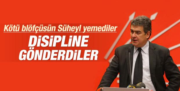 CHP'li vekil Süheyl Batum disipline sevk edildi