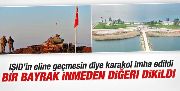 Operasyonda Türk Bayrağı indirilmeden diğeri göndere çekildi