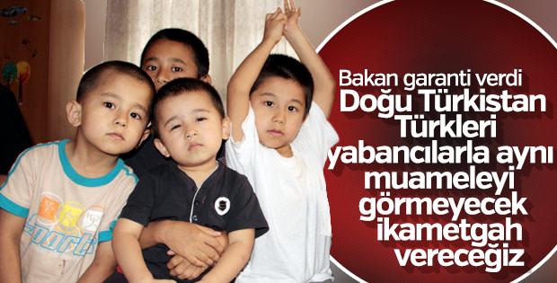 Doğu Türkistan Türklerine ikametgah veriliyor