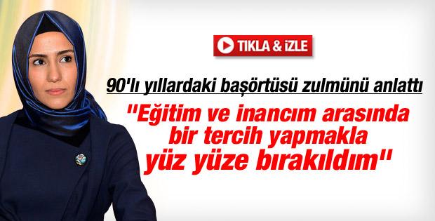 Sümeyye Erdoğan 28 Şubat sürecinde yaşadıklarını anlattı