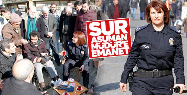 Sur'un kadın emniyet müdürü: Asuman Karacık