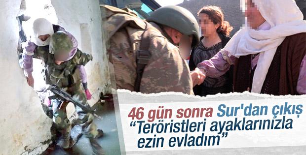Diyarbakırlı kadın: Teröristleri ayaklarınızla ezin