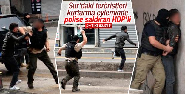 Diyarbakır'da polisin silahını almaya çalışan eylemci