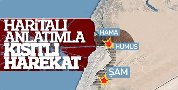 Suriye'ye üç saldırı dalgası oldu