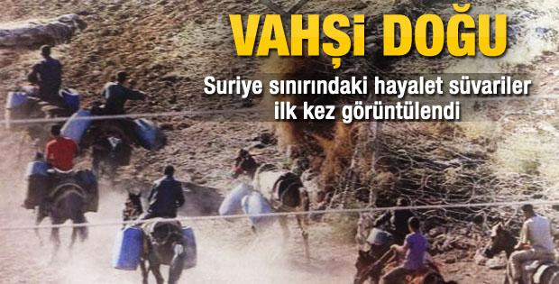 Suriyeli atlı kaçakçılar ilk kez görüntülendi
