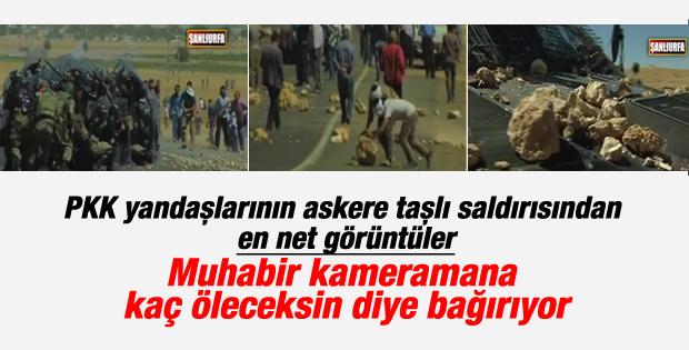 PKK yandaşları Suruç'ta askeri taş yağmuruna tuttu