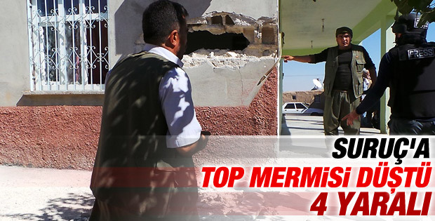 Suruç'ta bir eve havan topu mermisi düştü İZLE