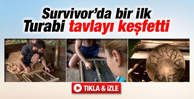 Survivor'da Turabi'den tavla sürprizi - İzle