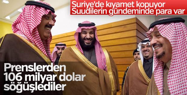 Suudi Arabistan prenslerden 106 milyar dolar topladı