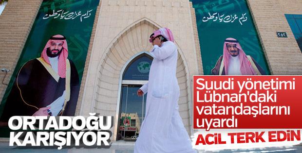 Suudi Arabistan'dan vatandaşlarına Lübnan çağrısı