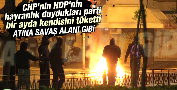 Yunanistan'da Çipras protestosu