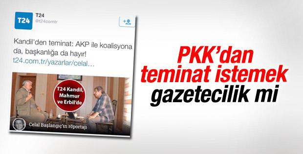 Cumhuriyet ve T24 Kandil'de PKK'nın bir numarasıyla