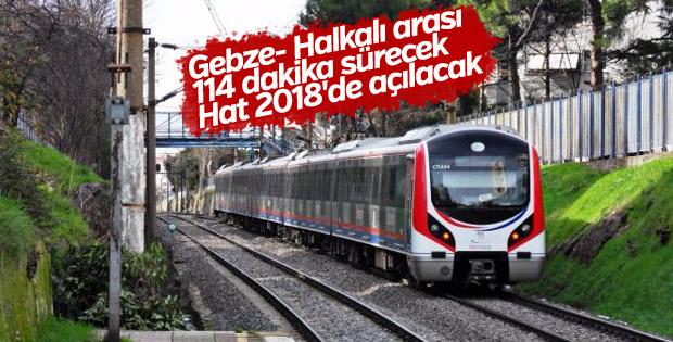 Gebze- Halkalı Banliyö Hattı 2018'de açılacak