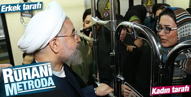 İran Cumhurbaşkanı Ruhani ofisine metroyla gitti