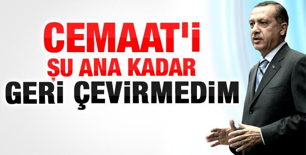Başbakan Erdoğan'dan cemaate mesaj