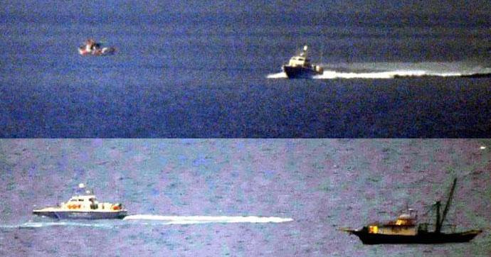 Akdeniz'de Yunan botları Türk tekneleri taciz etti