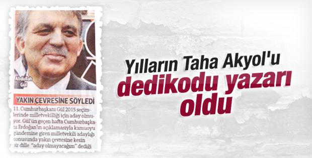 Taha Akyol magazin muhabirlerine özendi