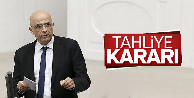 CHP'li vekil Enis Berberoğlu'na tahliye