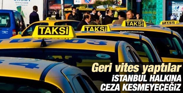 İstanbul'da taksicilerden geri adım: Kontak kapatmayacağız