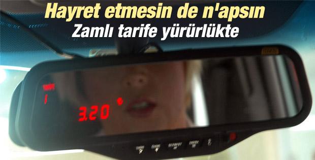 İstanbul'da taksilerde zamlı tarife yürürlükte