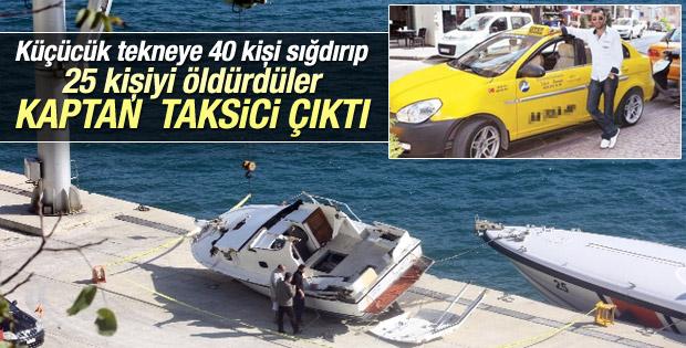 Boğazda batan tekneyi taksi şoförü kullanıyordu