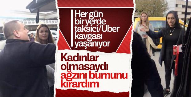 Atatürk Havalimanı'nda Uber-taksici kavgası