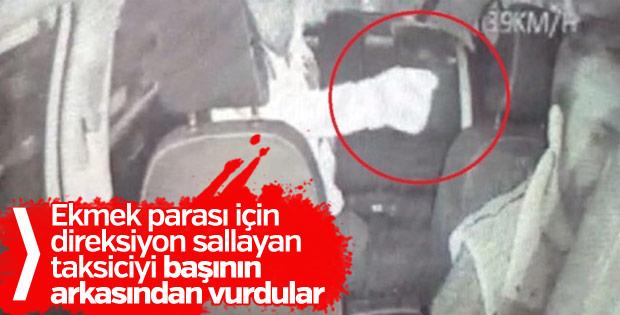 Direksiyon başındaki taksiciye silahlı saldırı