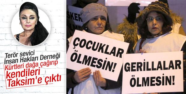 Taksim'de 'Gerillalar ölmesin' protetosu