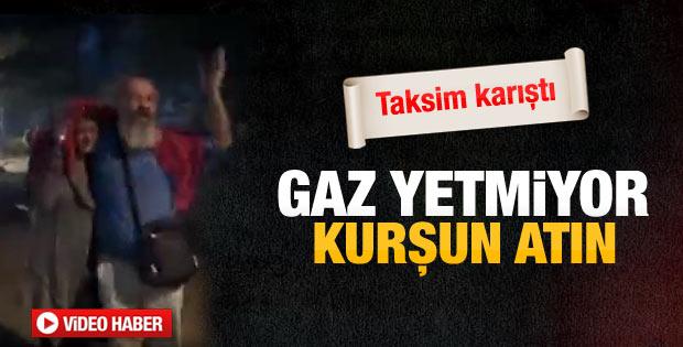 Gezi Parkı'nda polise tepki: Kurşun sıkın lan