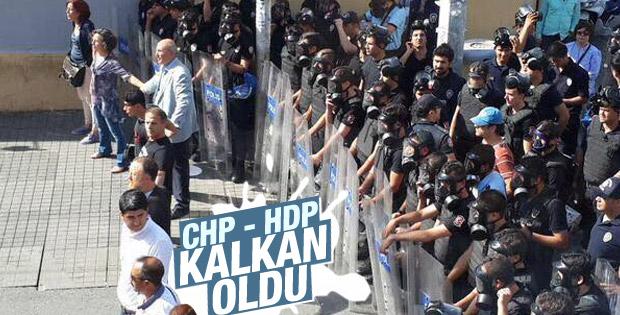 Taksim'deki LGBT yürüyüşünde CHP-HDP zinciri