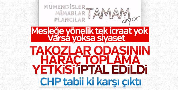 CHP TMMOB üyeliğinin zorunlu olmasını istiyor