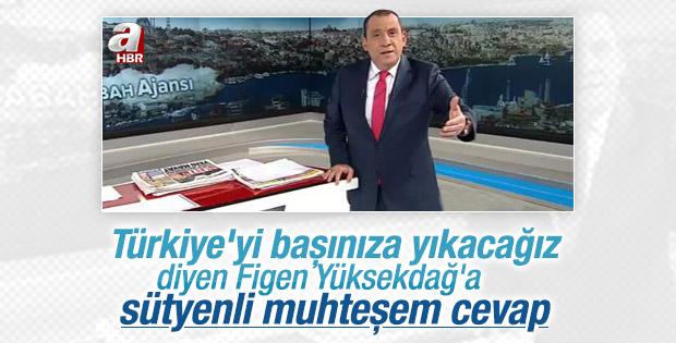 Erkan Tan'dan Figen Yüksekdağ'a sütyenli cevap