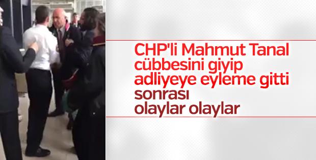 CHP'li Tanal bu kez Ankara Adliyesi'nde olay çıkardı