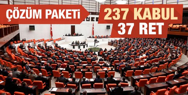 Çözüm süreci kanun tasarısı Meclis'ten geçti