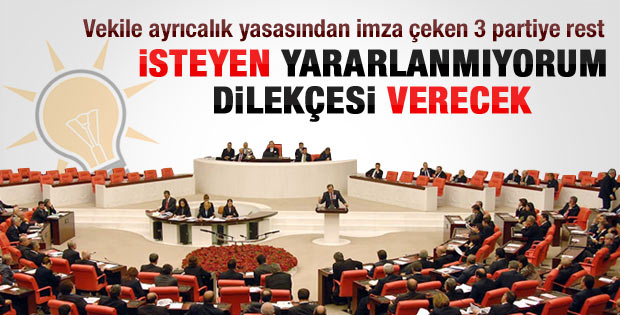 AK Parti'den CHP MHP ve BDP'ye sürpriz