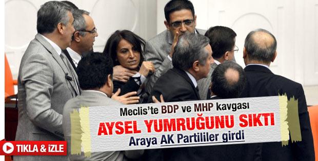 TBMM'de BDP'liler ile MHP'lilerin kavgası
