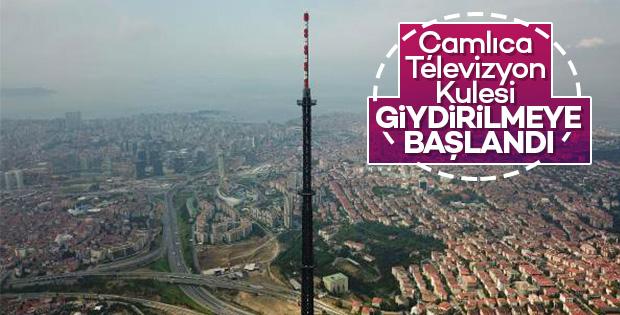 Çamlıca Televizyon Kulesi 'giydiriliyor'