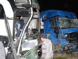 Tekirdağ'da yolcu otobüsü ile TIR çarpıştı