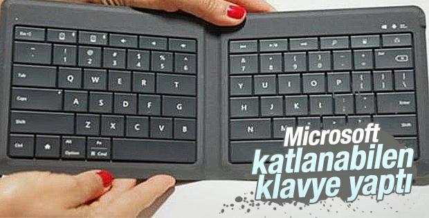 Microsoft katlanabilen klavye yaptı