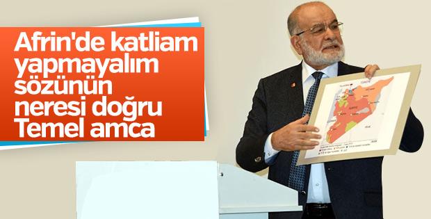 Temel Karamollaoğlu Afrin eleştirilerine yanıt verdi